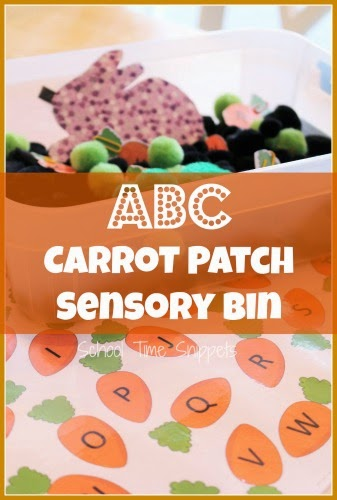 Letter Matching Carrots Activity