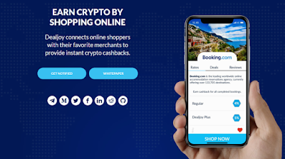 DEALJOY - EARN CRYPTO BY SHOPPING ONLINE