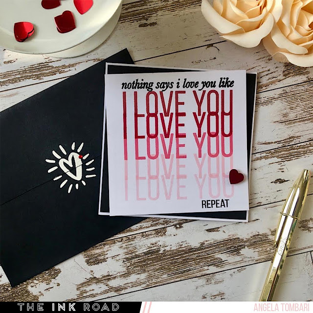 Modern Romance Card by Angela Tombari for The Ink Road Stamps 01