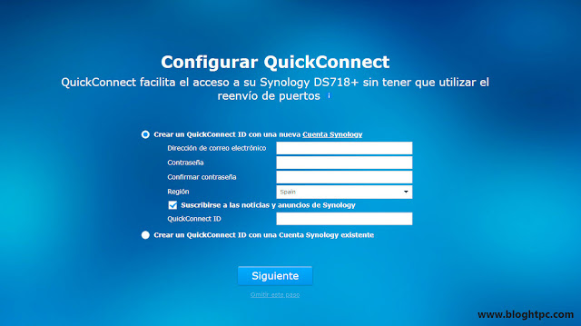 Configuración Quick Connect