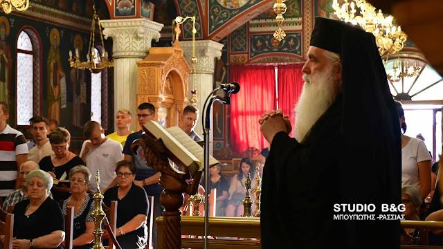 Ο Μητροπολίτης Αργολίδας στην πρώτη παράκληση στην Θεοτόκο στον Ιερό Ναό Ευαγγελίστριας Ναυπλίου (βίντεο)