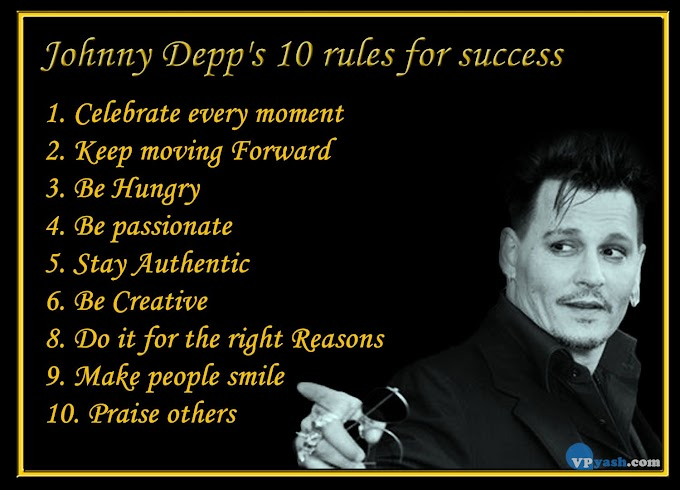 Johnny Depp's 10 rules for success - Inspiring