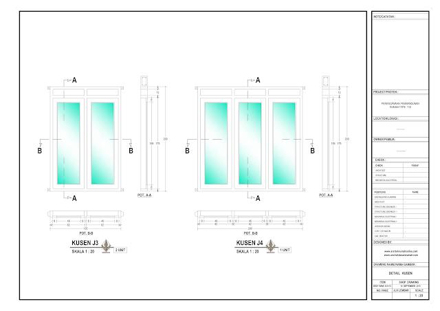 Detail Kosen Rumah Lantai 1 - J3 dan J4