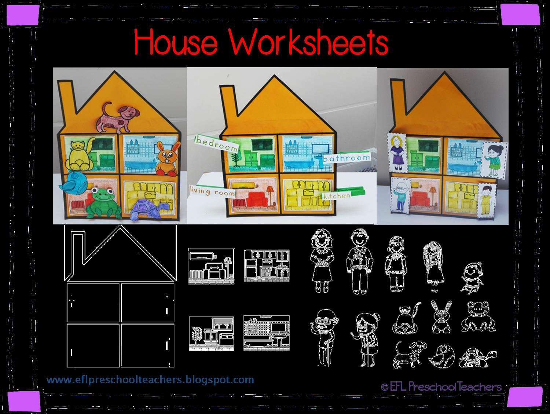 ESL/EFL Preschool Teachers: House Worksheets for the ...