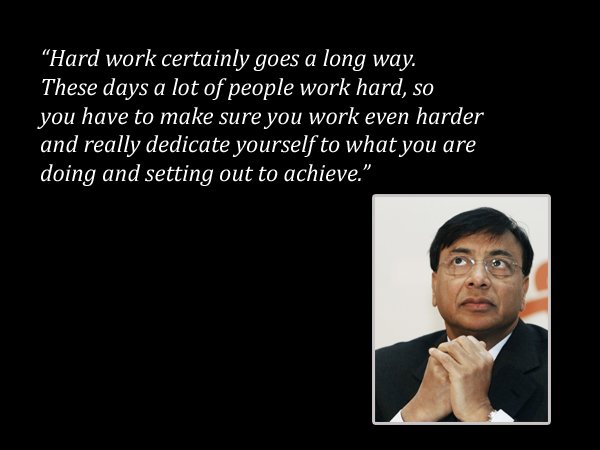 Lakshmi Mittal work quote