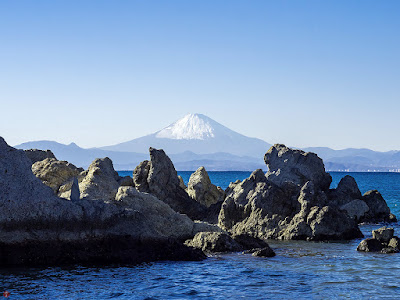Mt.Fuji as seen from Morito-beach (Hayama)