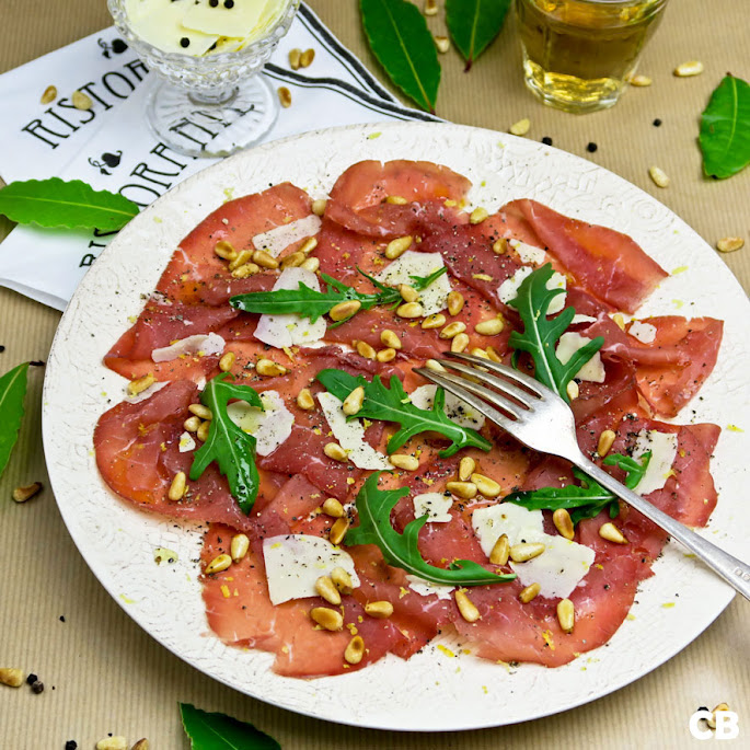 Recept Carpaccio van bresaola, Italiaans gedroogd rundvlees