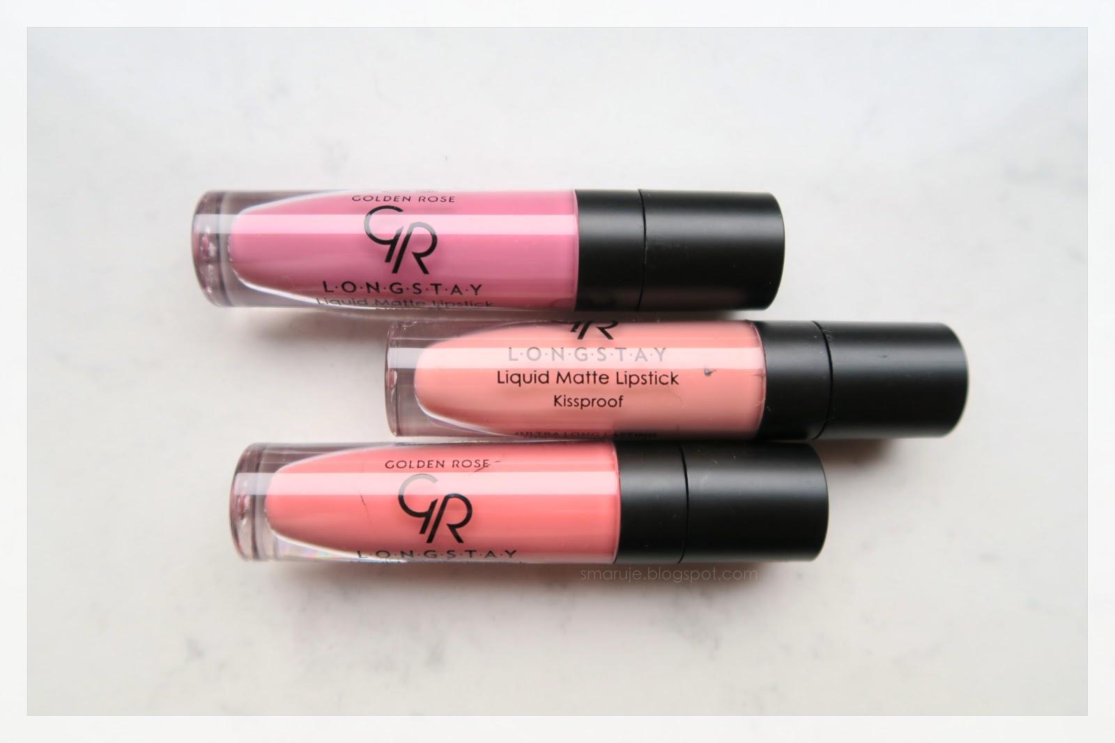 Golden Rose Longstay Liquid Matte Lipstick, odcienie 03, 13, 17 –jak wiele mają wspólnego z Milani Amore Matte?