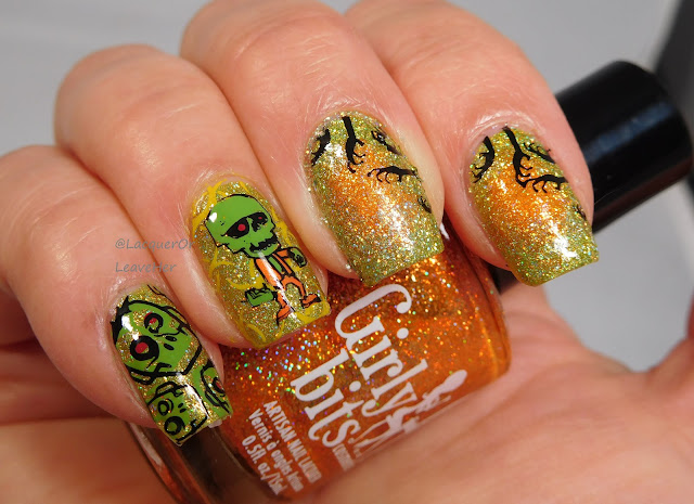 UberChic Beauty Zombie Love 02 over Girly Bits Cosmetics Stayin' Alive and Funky Town