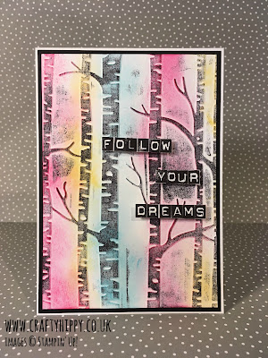 Dreamy forest card made with Stampin' Up! products