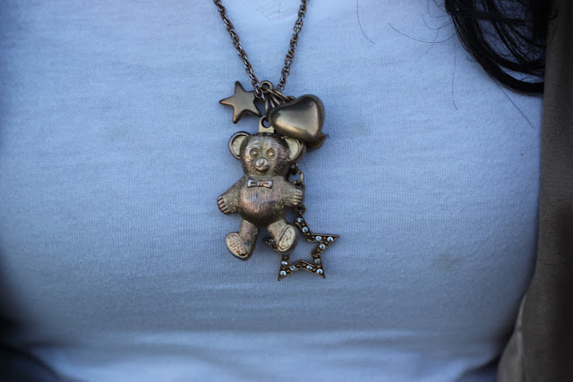Teddy Bear Charm Necklace
