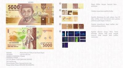 Uang rupiah Baru pecahan Rp.5.000 kertas
