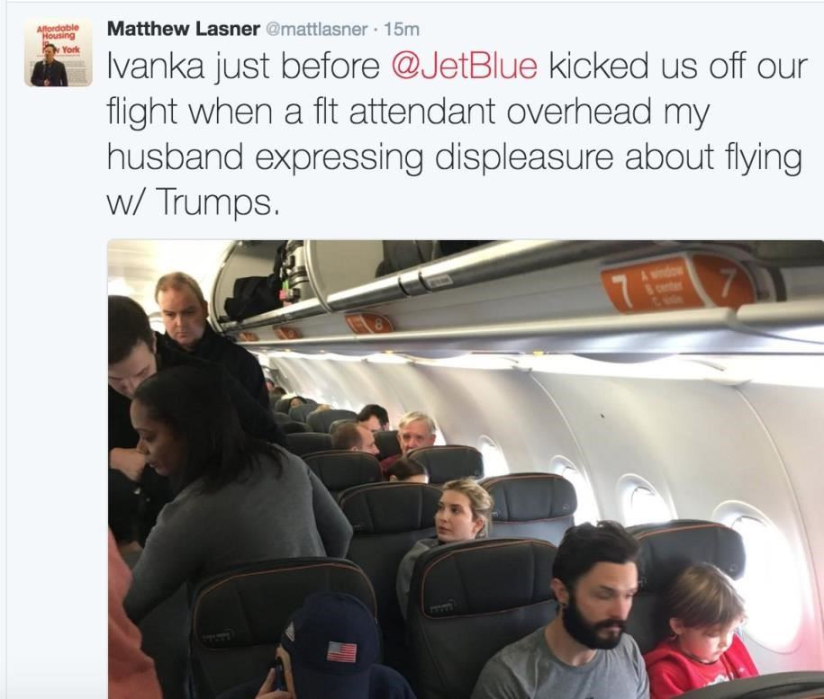 ivanka trump on jetblue