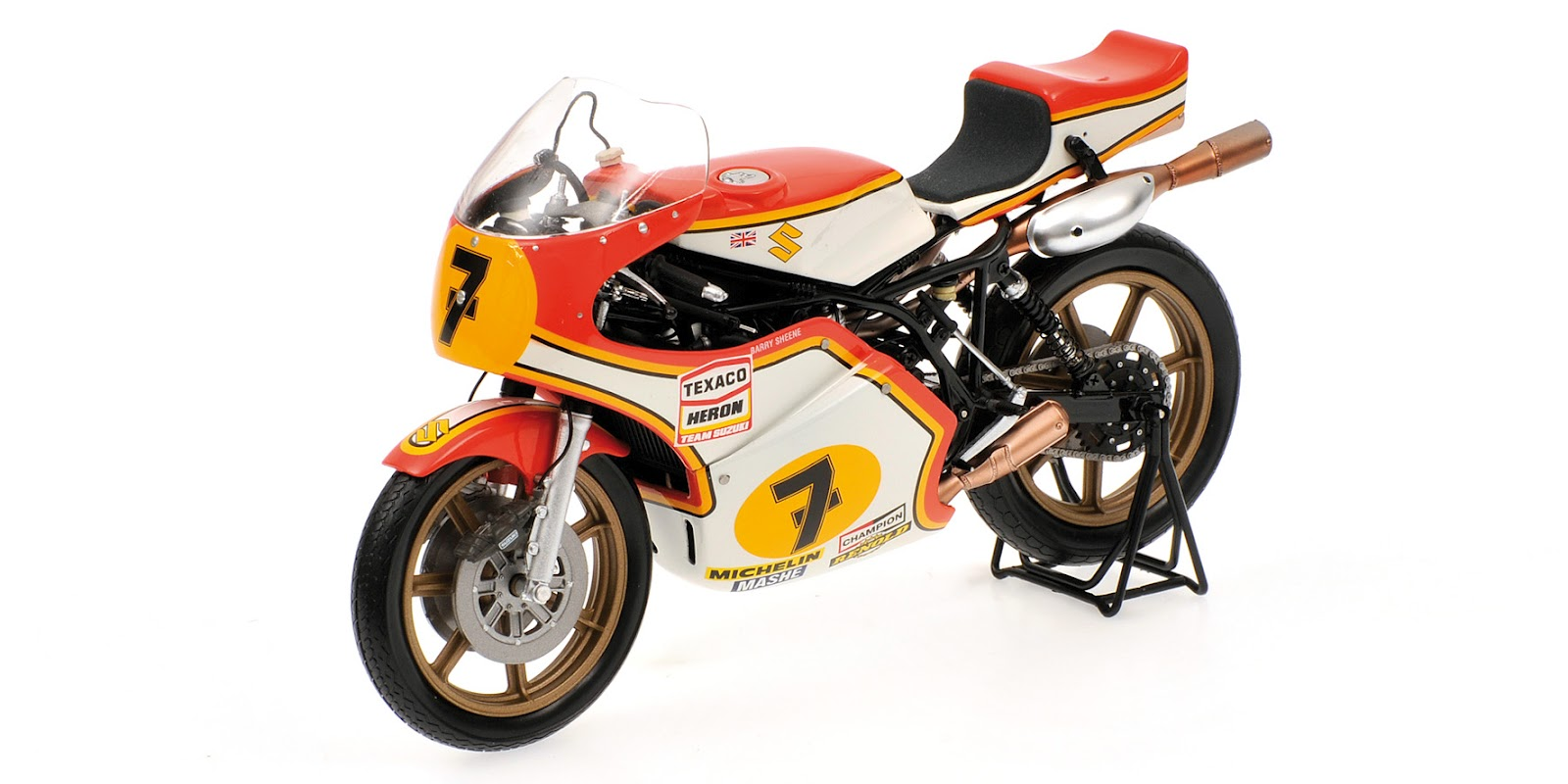 racing scale models suzuki rg 500 b sheene 1976 by minichamps. Black Bedroom Furniture Sets. Home Design Ideas