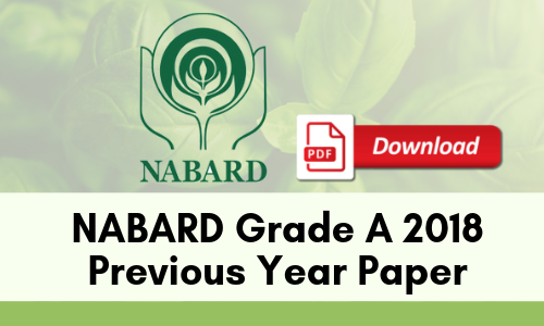 NABARD Grade A 2018 Previous Year Paper - PDF
