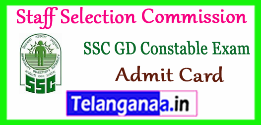 SSC Staff Selection Commission Constable GD Exam Admit Card 2017 Cut Off Merit List