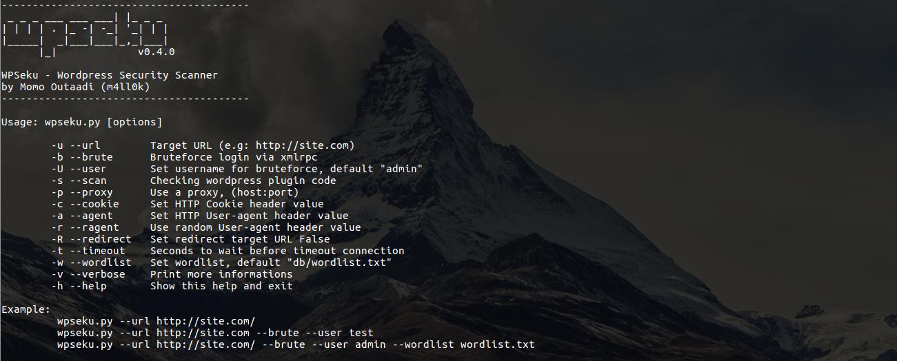 WPSeku v0 4 - Wordpress Security Scanner