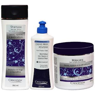 Shampoo, creme de pentear e máscara de hidratação capilar de aveia cabelos secos e crespos