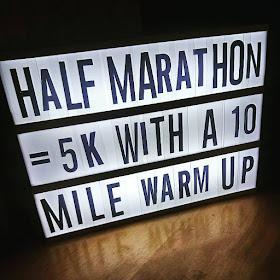 Today I Ran My First Half Marathon - half marathon = 5k with a 10 mile warm up!  Lightbox caption
