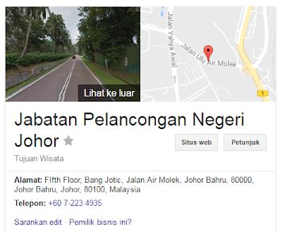 Rasmi - Jawatan Kosong di (JPNJ) Jabatan Pelancongan Negeri Johor Terkini 2019