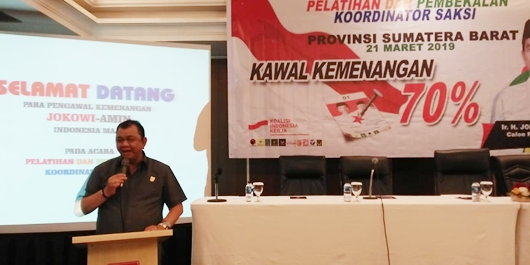 TKD Yakin Jokowi-Ma'ruf Amin Menang di Sumbar, Hendra: Orang Sudah Berfikir Realita