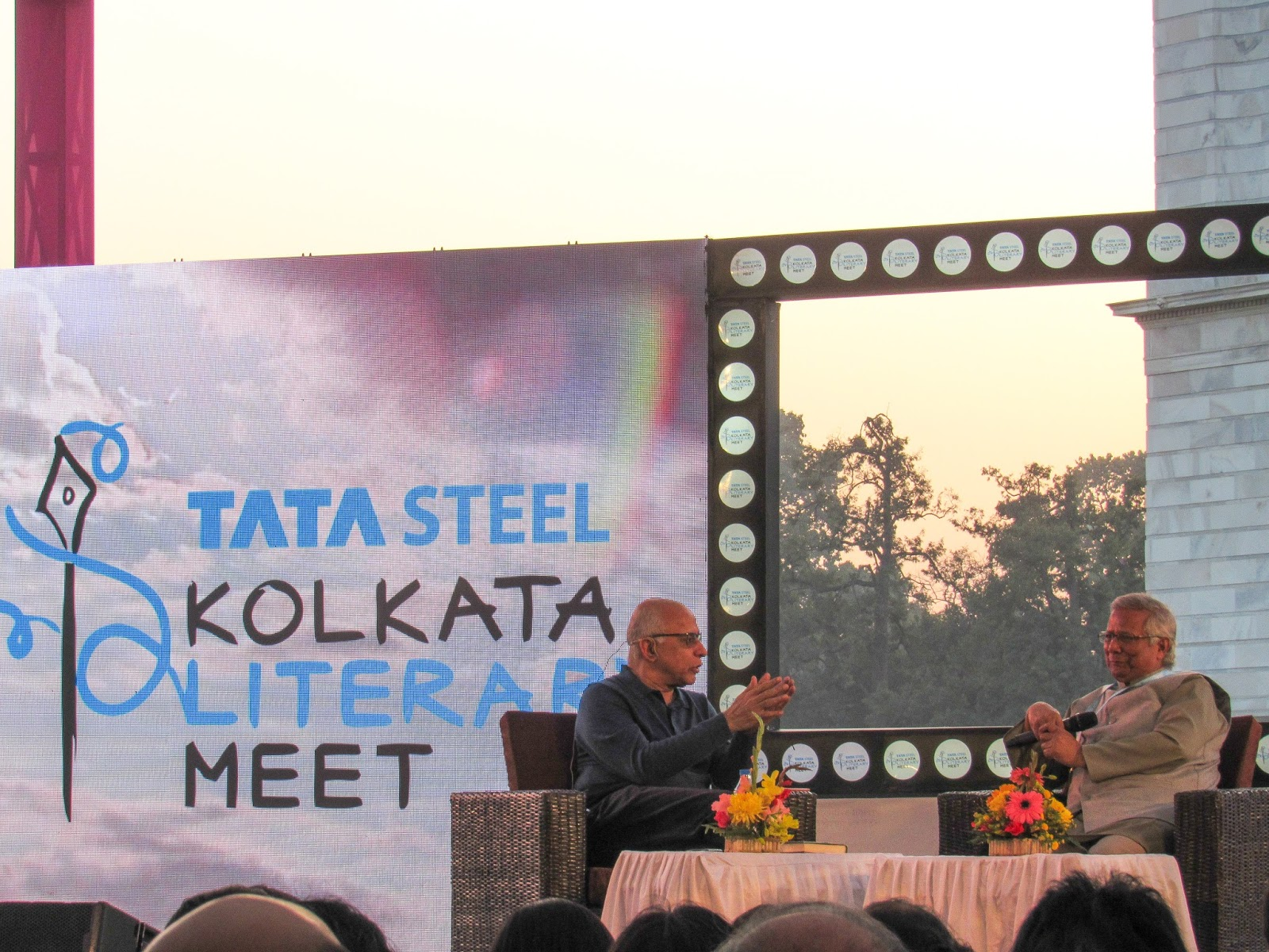 Mr. Subroto Bagchi and Dr. Muhammad Yunus - tata steel kolkata literary meet 2018