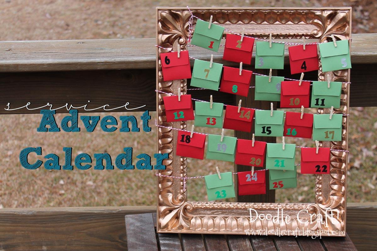 service advent calendar. Black Bedroom Furniture Sets. Home Design Ideas