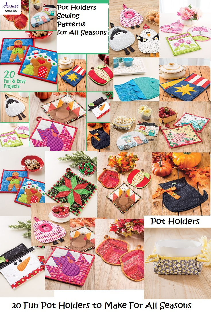 Pot Holders for All Seasons Sewing Patterns