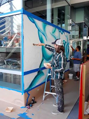 Artspan Transbay Terminal mural process 1