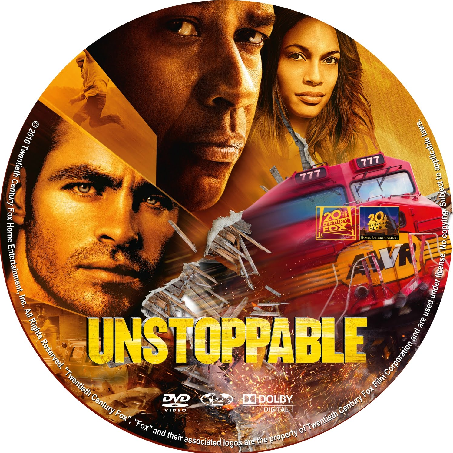 DVD COVERS AND LABELS: Unstoppable