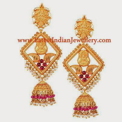 Semi Traditional Jhumkis