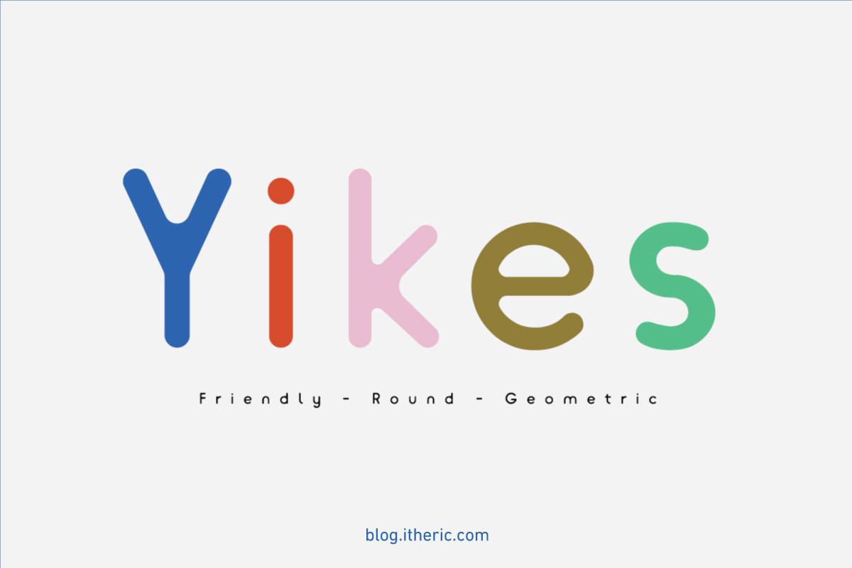 خط Yikes - خط فني رائع بشكل مجانا
