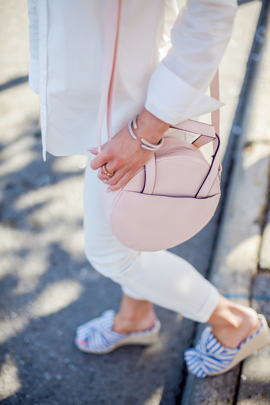 walmart no boundaries pink circle crossbody bag