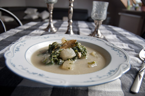 kohlrabi spinat suppe sayur bobor