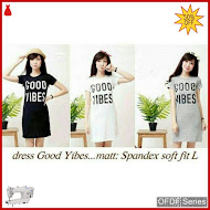 OFDF142 Dress Casual Dress Good Yibes Vibes BMGShop