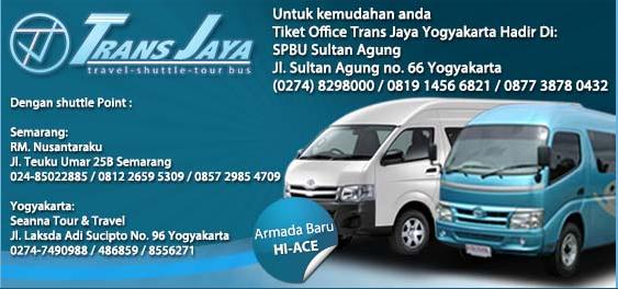 Jadwal Travel Trans Jaya Semarang Jogja Pp Jadwal Travel