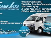 Jadwal Travel Trans Jaya Semarang - Jogja PP