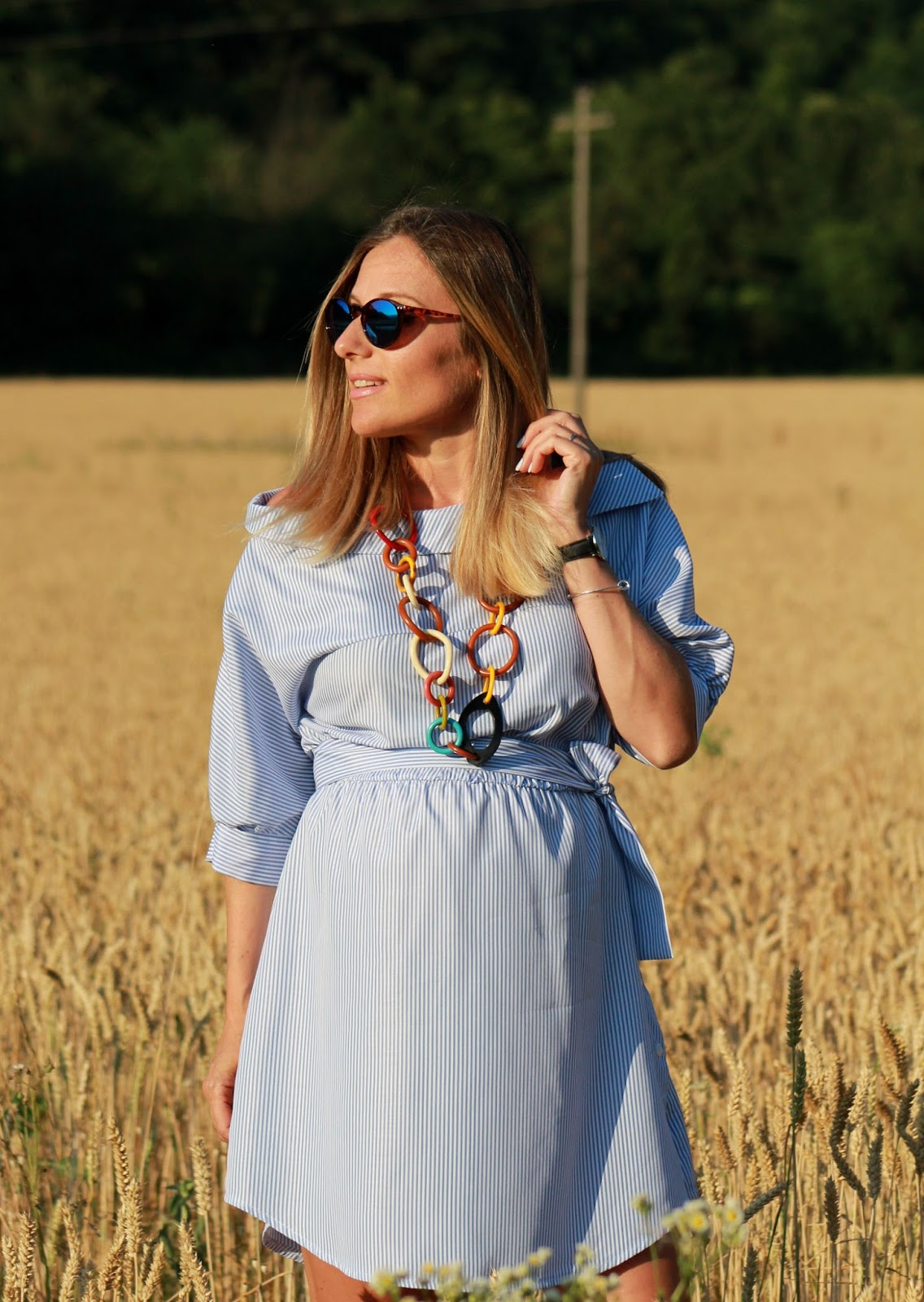 Conciliare gravidanza e blog - Eniwhere Fashion - striped dress
