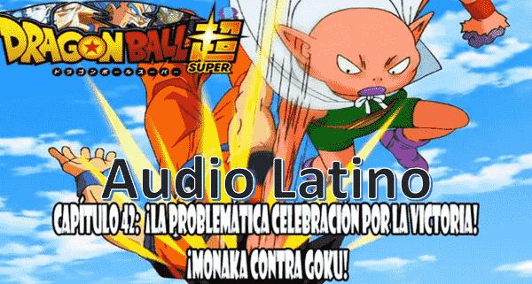 Ver capitulo 42 en audio latino online, una vez culminado el torneo entre los dos universos, Bulma invita a Bills y Wiss para celebrar la victoria del universo 7.