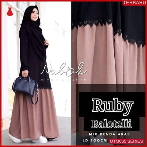 UTM065N64 Baju New Muslim Ruby Dewasa Maxi UTM065N64 041 | Terbaru BMGShop