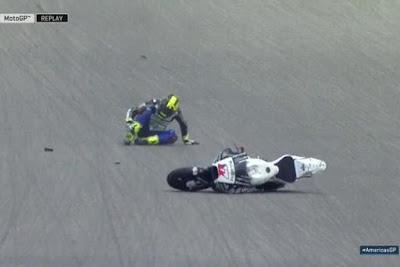 Begini Kronologi Kecelakaan Abraham vs Bautista di FP2 GP Amerika