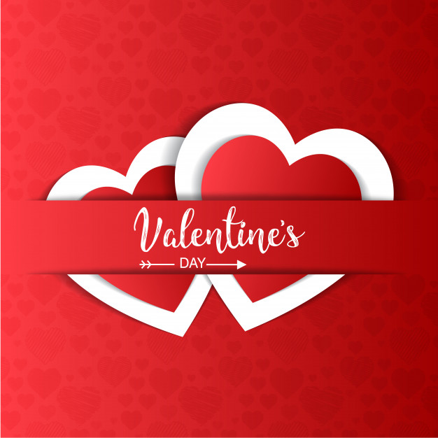 Valentine´s day card Free Vector