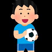 サッカー少年のイラスト