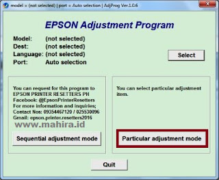 After downloaded extract the file and open AdjProg Instruction Reset Epson Printers With Image