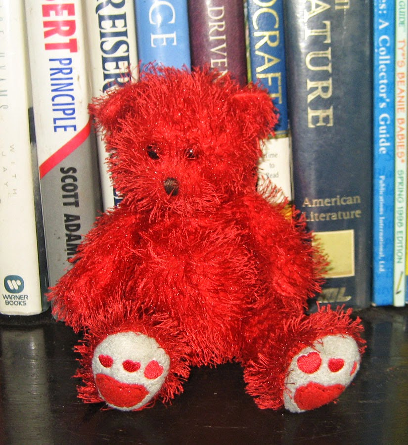 074f1ddcf3f Percy s TY Beanie Babies   Sizzles Red Bear Punkies