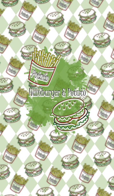 Hamburger & Potato -Pop style-