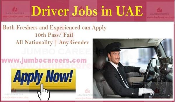 Dubai driver jobs in Gulf countries,company driver jobs in UAE,