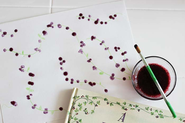 Painting With Blackberries Family Dinner Book Club Craft