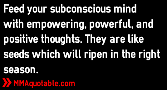 Subconscious Mind, Positive Thoughts