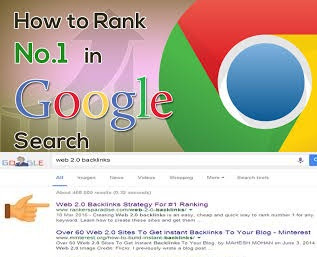 Google search engine page 1